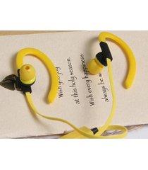 audífonos bluetooth estéreo hd manos libres deportivos, bt-kdk55 nuevo auricular de la música del deporte audifonos bluetooth manos libres  4.1 auricular estéreo sin hilos (amarillo)