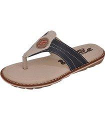 sandália infantil raniel calçados papete chinelo dedo costura marinho/gelo