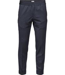 terry cropped trouser kostuumbroek formele broek blauw filippa k