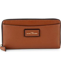 zip-around faux leather wallet
