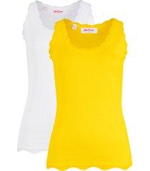 top a costine (pacco da 2) (giallo) - john baner jeanswear