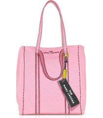 marc jacobs designer handbags, cotton & linen the trompe l'oeil tag tote 31