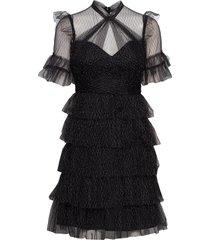 liona dress jurk knielengte zwart by malina