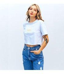 camiseta amplia corta manga corta combi
