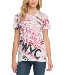 dkny graffiti graphic t-shirt