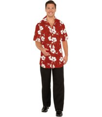 buyseasons men's button front hawaiian shirt adult costume