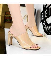 sandalias de mujer nuevas sandalias de tacón cuadrado para mujer sandalias