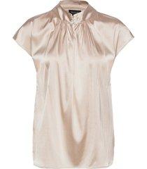 3176 - prosi top s blouses short-sleeved beige sand