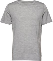 oslo wool tee t-shirts short-sleeved grå bergans