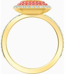 anillo no regrets, multicolor, baño en tono oro