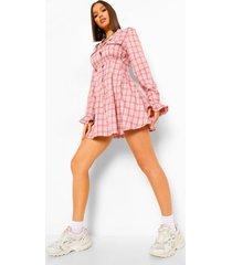 geruite basic leggings, pink