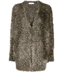 fabiana filippi fluffy cardigan - gold