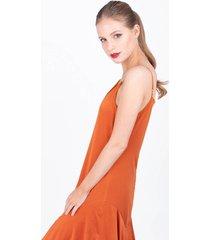 vestido naranja sans doute skavac