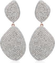 monica vinader nura double teardrop earrings with diamonds in rose gold at nordstrom
