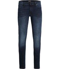 jack & jones heren jeans lengte 34 model liam agi 004 skinny fit dark blue denim