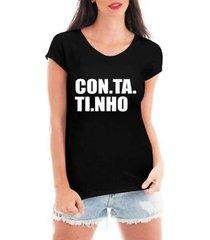 blusa criativa urbana contatinho t-shirt feminina