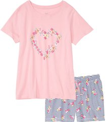 pigiama estivo con pantaloncini lunghi (rosa) - bpc bonprix collection