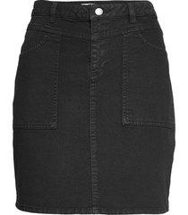 skirts woven kort kjol svart edc by esprit