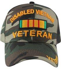 us military disabled vietnam veteran baseball hat, camouflage