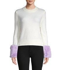 faux fur knit sweater