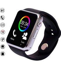 smartwatch reloj inteligente a1 plateado android