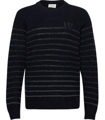 louis jumper gebreide trui met ronde kraag blauw wood wood