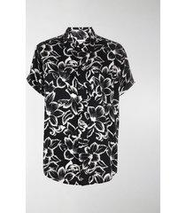 saint laurent floral print short-sleeve shirt