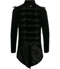 a.n.g.e.l.o. vintage cult 1990s elongated back military jacket - black