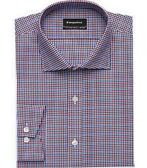 esquire non-iron blue & red check slim fit dress shirt