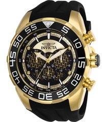 reloj invicta negro modelo 263gh para hombre, colección speedway