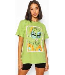 peachy graphic t-shirt, pistachio