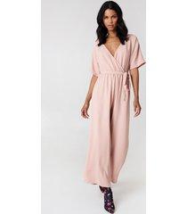 rut&circle ollie jumpsuit - pink