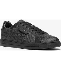 mk sneaker keating in pelle con logo - nero (nero) - michael kors