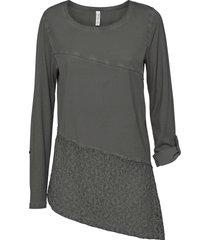 maglia con fondo asimmetrico (grigio) - rainbow
