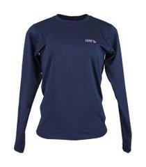 blusa térmica feminina segunda pele thermo premium original slim fit - azul marinho