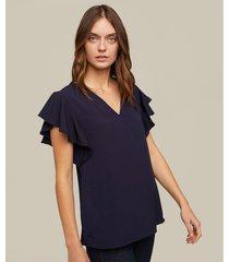 blusa escote v manga corta bolero