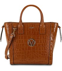 charmont crocodile-embossed leather convertible tote