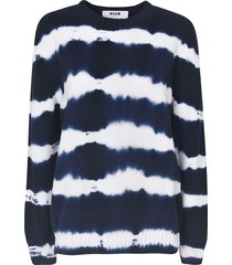 msgm stripe ribbed sweatshirt