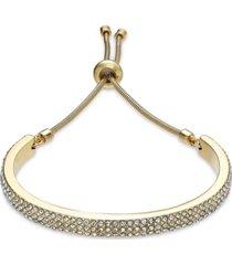 alfani pave curved bar slider bracelet, created for macy's
