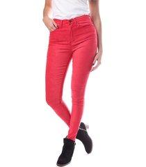 pantalón rojo vov jeans afra suede