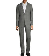 2-piece modern fit plaid suit