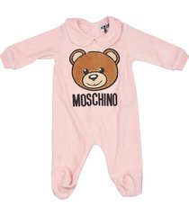 moschino teddy bear print rompers