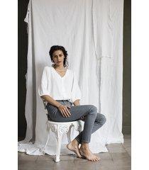 camicetta stampata e ricamata - collezione donna  -