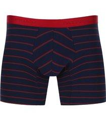 boxer rayas delgadas fondo oscuro color azul, talla s