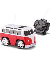 carrinho de controle remoto com luz - kombi vermelha – samba toys