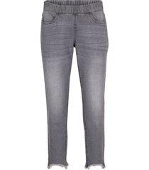 jeans push up elasticizzati con cinta comoda slim fit a vita bassa (grigio) - bpc bonprix collection