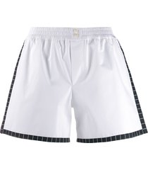 dolce & gabbana underwear poplin elasticated mini shorts - white