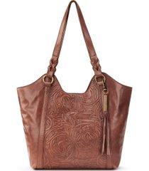 the sak sierra leather shopper