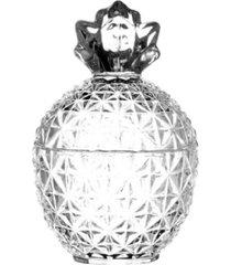 potiche bomboniere de cristal pineapple 10,5x15,5cm