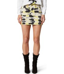 hudson jeans tie-dyed high-rise viper mini skirt